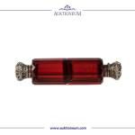 Rotes Parfumflacon